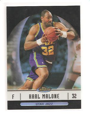 2006-07 Finest Refractors Black #47 Karl Malone