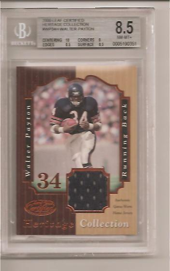 2000 Leaf Certified Heritage C Walter Payton Blu BGS  8.5