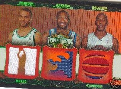 2006-07 Topps Triple Threads Relics Combos #38 Tony Parker/Gilbert Arenas/Chauncey Billups