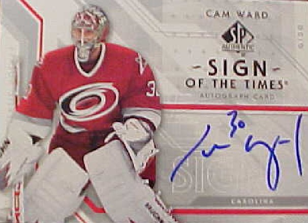 2006-07 SP Authentic Sign of the Times #STCW Cam Ward