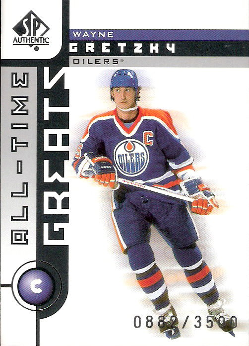 2001-02 SP Authentic #101 Wayne Gretzky ATG