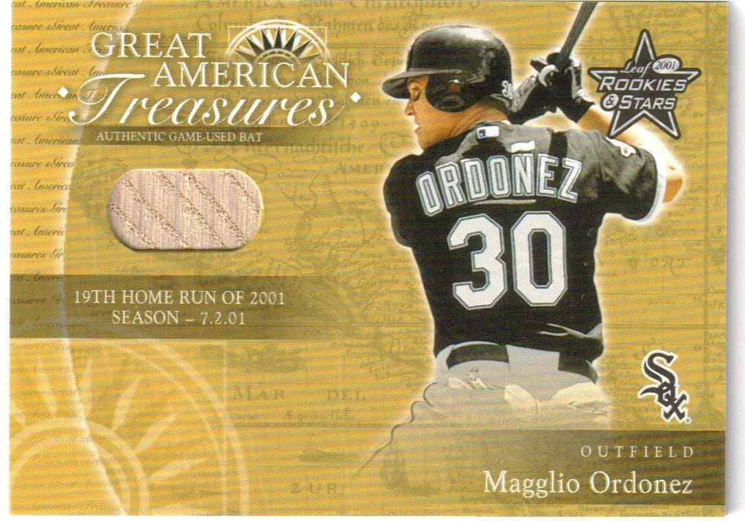 2001 Leaf Rookies and Stars Great American Treasures #GT2 M.Ordonez HR Bat/200 *