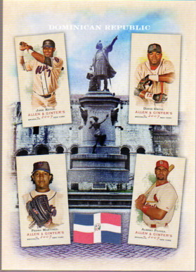 2007 Topps Allen and Ginter National Pride #7 Jose Reyes/Pedro Martinez/David Ortiz/Albert Pujols
