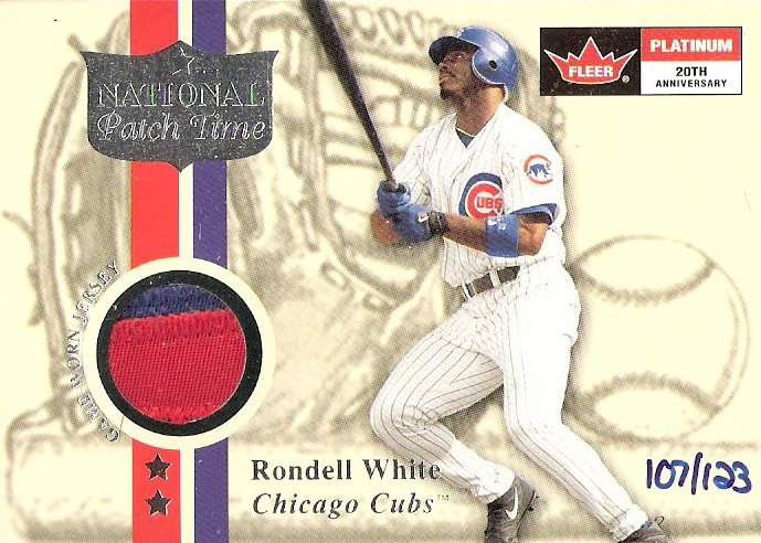 2001 Fleer Platinum National Patch Time #62 Rondell White S1