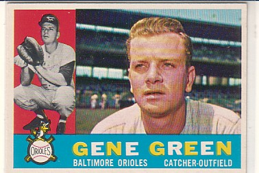 1960 Topps #269 Gene Green