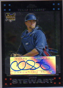 2007 Topps Chrome #350 Chris Stewart AU RC