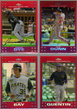 2007 Topps Chrome Red Refractors #225 Adam Dunn