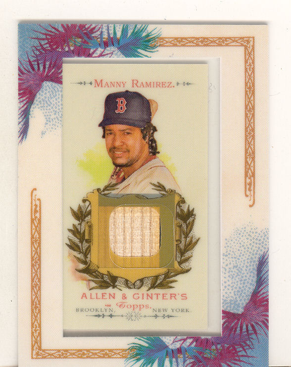 2007 Topps Allen and Ginter Relics #MR Manny Ramirez Bat H