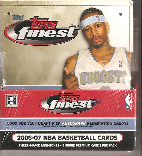 2006-07 Topps Finest Sealed Hobby Box front image