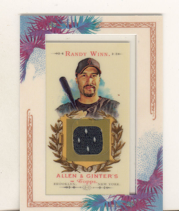 2007 Topps Allen and Ginter Relics #RW Randy Winn J