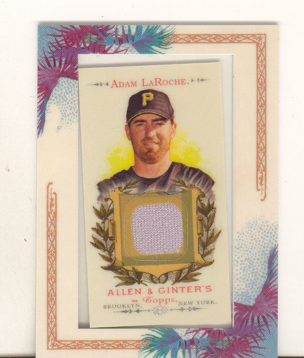 2007 Topps Allen and Ginter Relics #AL Adam LaRoche J