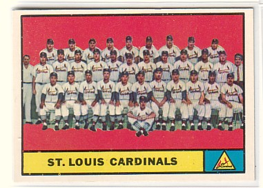 1961 Topps #347 St. Louis Cardinals TC