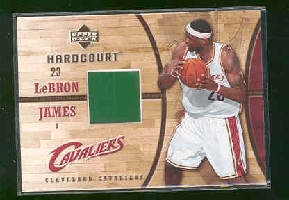 2006-07 Upper Deck Hardcourt Game Floor #20 LeBron James