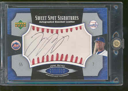 2005 Sweet Spot Signatures Red Stitch Black Ink #RE Jose Reyes/350