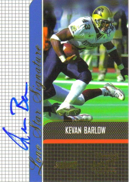 2001 Stadium Club Lone Star Signatures #LSKB Kevan Barlow 9