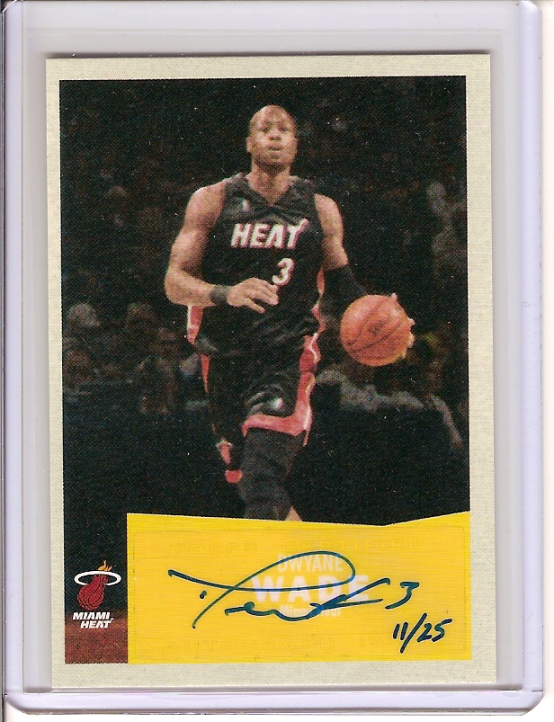 2007 Dwayne Wade Autograph #11/25 - beautiful bold blue auto from the Hawaii Trade Conference! front image