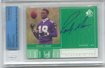 1998 SP Authentic Player's Ink Green #RM Randy Moss