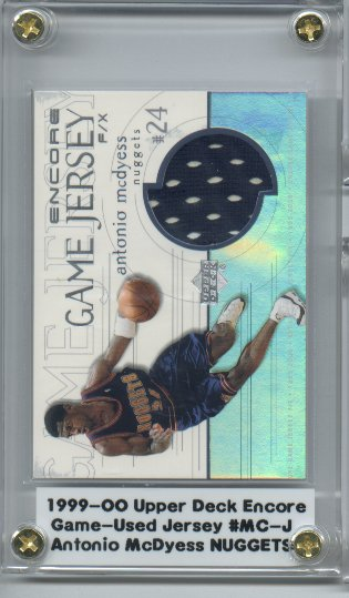 1999-00 Upper Deck Encore Game Jerseys #MCJ Antonio McDyess