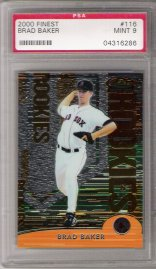 2000 Finest #116 Brad Baker ROOKIE PSA Mint 9 #810/2000 Boston RED SOX!
