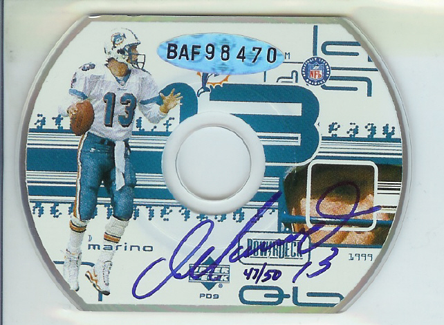 1999 Upper Deck PowerDeck Autographs #DM Dan Marino