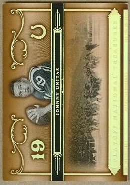 2006 Playoff National Treasures Gold #76 Johnny Unitas