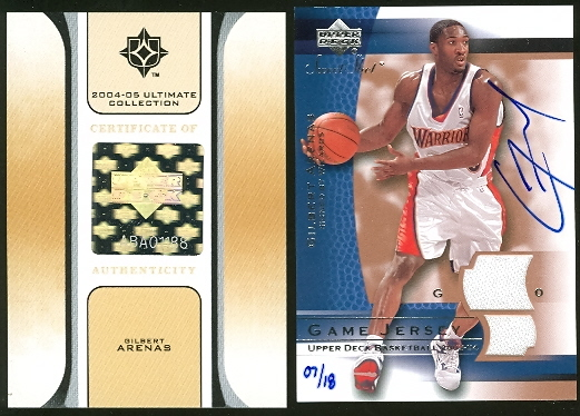 2004-05 Ultimate Collection Buybacks #6 Gilbert Arenas/SwtShJsy/18