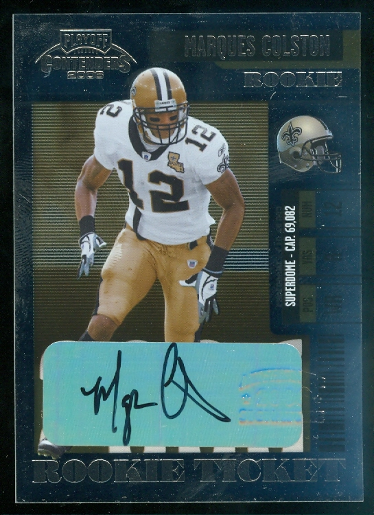 2006 Playoff Contenders #218 Marques Colston AU RC