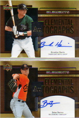 2007 Upper Deck Elements Elemental Autographs #BU Brian Burres