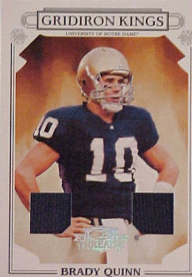 2007 Donruss Threads College Gridiron Kings Materials #14 Brady Quinn
