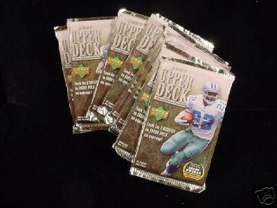 2 PACK LOT : 2007 Upper Deck Football Factory Sealed Pack - Retail Version (8 cards per pack)(Random Star Rookies, UD Game Jerseys, and Rookie Memorabilia cards) (Possible Adrian Peterson Rookie)