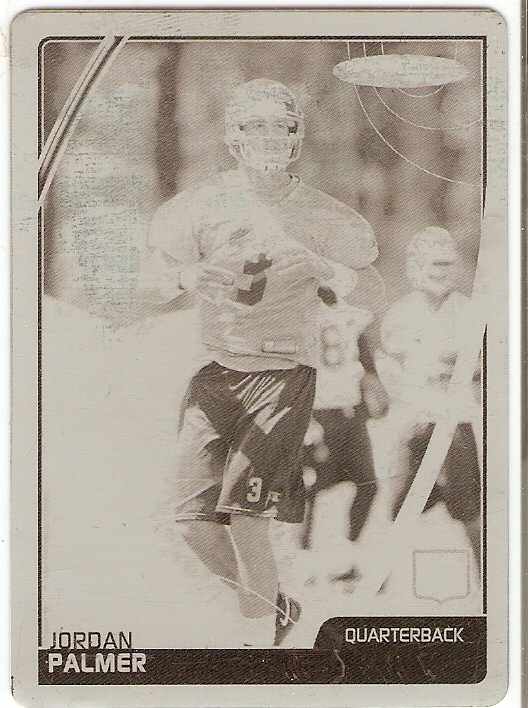 2007 Topps Total Printing Plates Black #448 Jordan Palmer