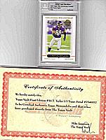 2005 Topps 50th Anniversary TRAVIS TAYLOR First Edition #1/3