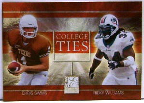 2003 Donruss Elite College Ties #CT1 Ricky Williams/Chris Simms