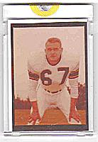 1961 Topps Steelers BOB SCHMITZ color negative!