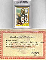 2005 Topps 50th Anniversary Throwbacks CHAD JOHNSON 1st Edition #2/10
