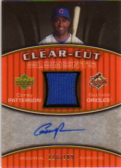2007 Upper Deck Elements Clear Cut Elements Silver #CP Corey Patterson