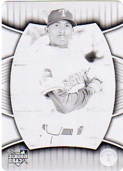 2007 Upper Deck Elements Printing Plates Black #250 Joaquin Arias