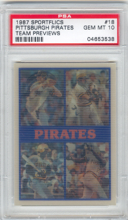 1987 Sportflics Team Preview #18 Pittsburgh Pirates/John Smiley/Sid Bream/Mike D