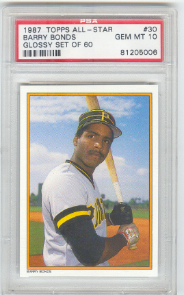 1987 Topps Glossy Send-Ins #30 Barry Bonds