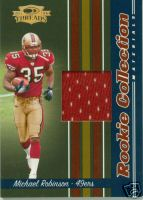 2006 Donruss Threads Rookie Collection Materials #12 Michael Robinson