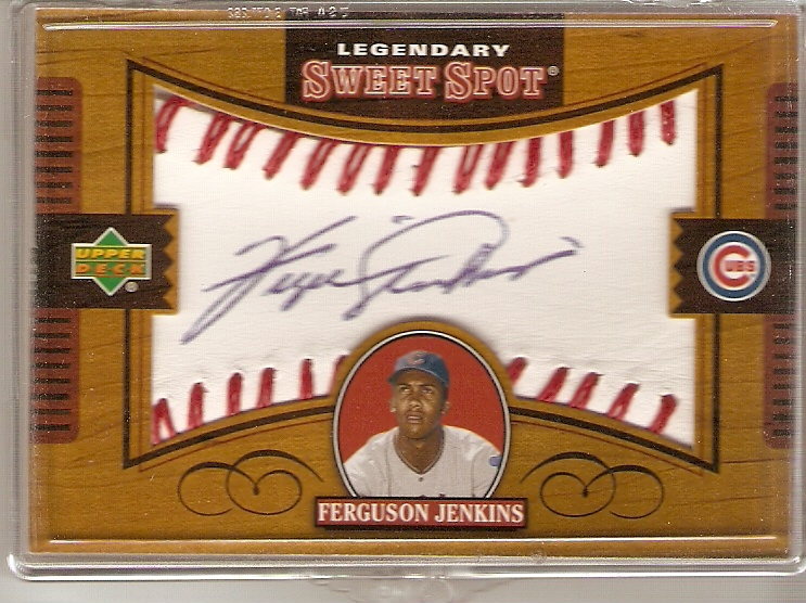 2002 Sweet Spot Legendary Signatures #FJ Ferguson Jenkins/857 *