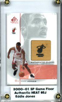 2000-01 SP Game Floor Authentic Floor #EJ Eddie Jones