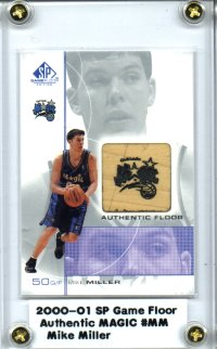 2000-01 SP Game Floor Authentic Floor #MM Mike Miller