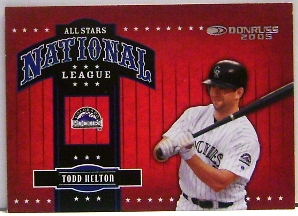 2005 Donruss All-Stars NL #15 Todd Helton