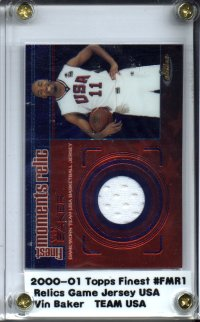 2000-01 Finest Moments Relics #FMR1 Vin Baker D