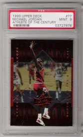 1999 Upper Deck Athlete Of The Century #77 Michael Jordan PSA Mint 9 NICE!!