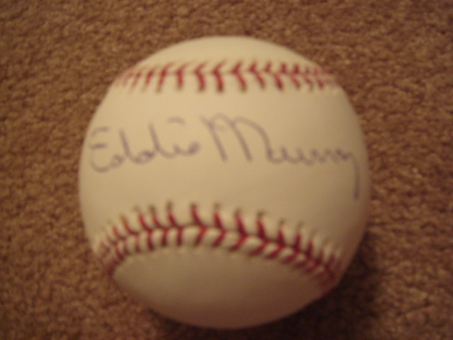 Eddie Murray Autographed Official MLB Baseball With Tri Star COA