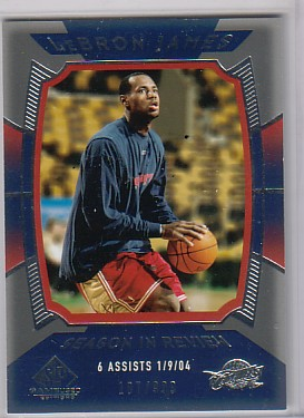 2004-05 SP Game Used #154 LeBron James SIR