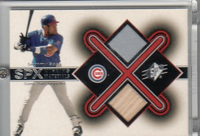 2001 SPx Winning Materials Bat-Jersey #SS Sammy Sosa