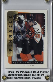 1996-97 Be A Player Autographs #189 Kjell Samuelsson